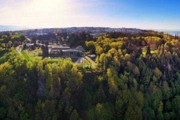 UBC campus aerial shot